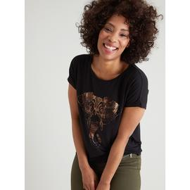 Black Jungle Fever Elephant Graphic T-Shirt