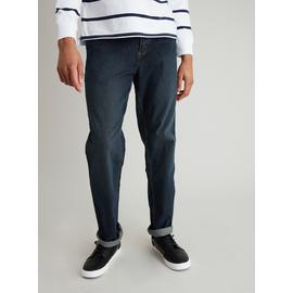 Midwash Denim Straight Leg Jeans With Stretch