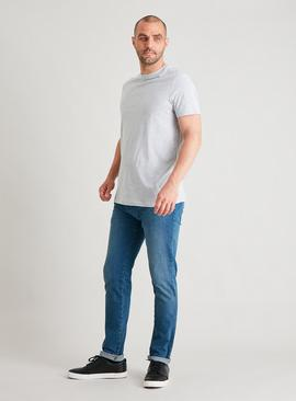 Blue Denim Skinny 4 Way Stretch Jeans