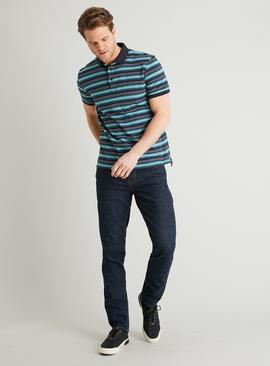 Dark Denim Skinny Fit Jeans With Stretch