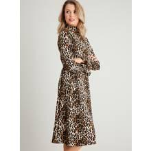 PETITE Leopard Print Belted Jersey Dress