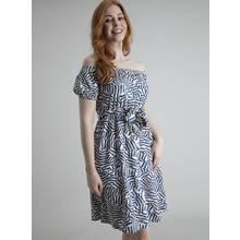 Multicoloured Printed Bardot Dress