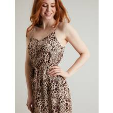 Leopard Print Strappy Cami Dress