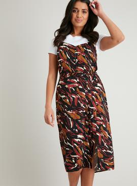 Multicoloured Abstract Print Cami Dress