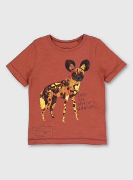 Rust African Wild Dog Graphic T-Shirt