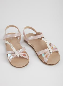 Pink Iridescent Dragonfly Sandals