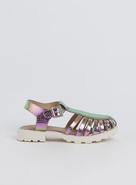 Metallic Purple Fisherman Sandal