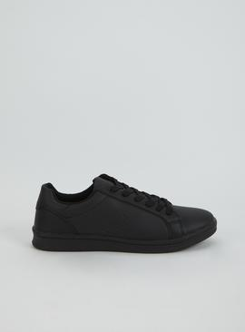 Black Lace Up Trainer