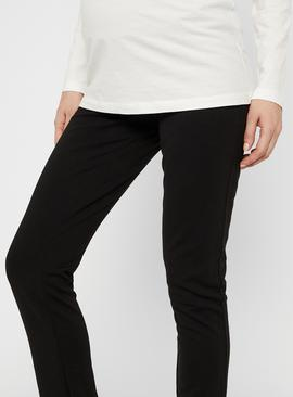 Black Jersey Maternity Trousers