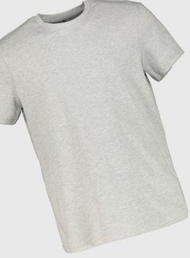 Grey Marl Relaxed Fit Crew Neck T-Shirt