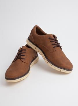 Sole Comfort Brown Blucher Shoes