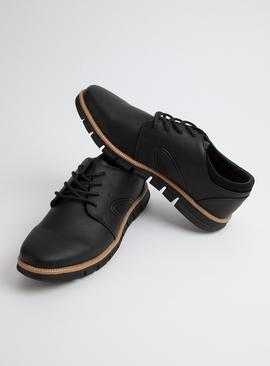 Sole Comfort Black Blucher Shoes