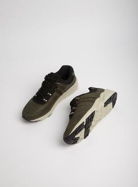 Sole Comfort Khaki Lace Up Trainers