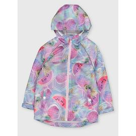 Pineapple Print Hooded Raincoat