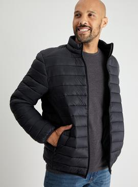 Black Eco Thermolite Padded Shower Resistant Jacket