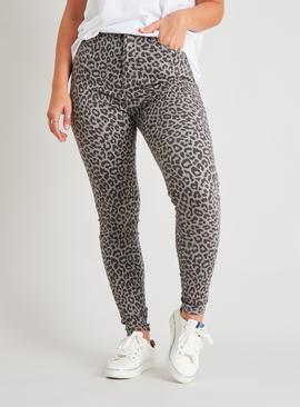 Leopard Print Skinny Jeans With Stretch