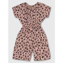 Pink Leopard Print Jumpsuit