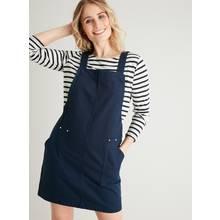 Navy Cotton Twill Pinafore