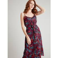 Bright Animal Print Strappy Cami Dress