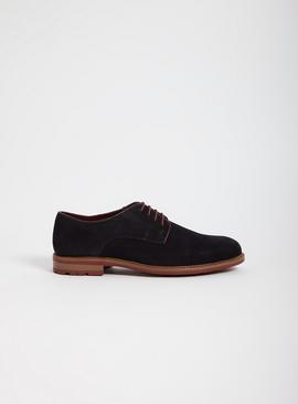 Sole Comfort Navy Suede Derby Shoes