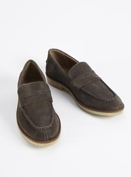 Sole Comfort Brown Suede Saddle Loafers