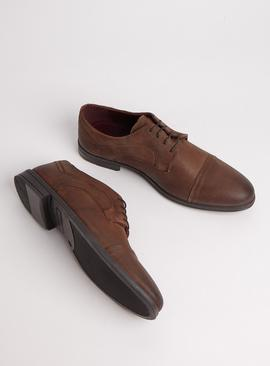 Sole Comfort Brown Suede Toe Cap Shoes