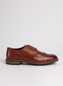 Sole Comfort Tan Leather Brogues