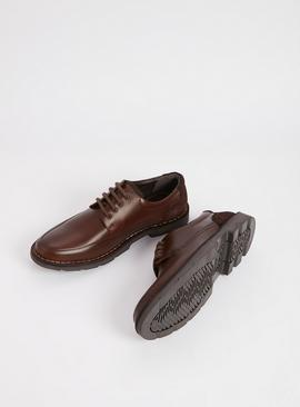 Sole Comfort Brown Leather Derby Shoes