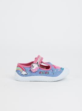 Peppa Pig Blue & Pink Canvas Mary Janes