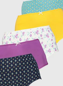 Bee Print Full Knickers 5 Pack
