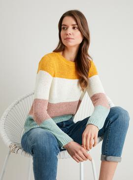 Multi Block Stripe Knitted Jumper