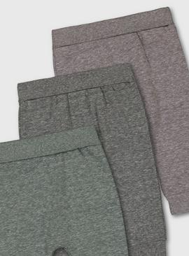Green & Grey Marl Joggers 3 Pack