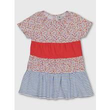 Floral & Stripe Spring Picnic Tiered Dress