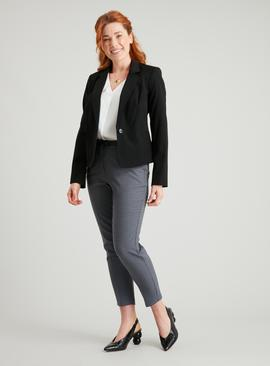 PETITE Black Single Button Blazer