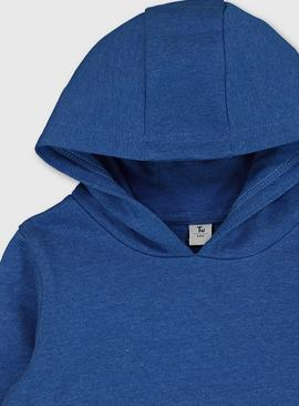 Blue Pull-Over Hoodie