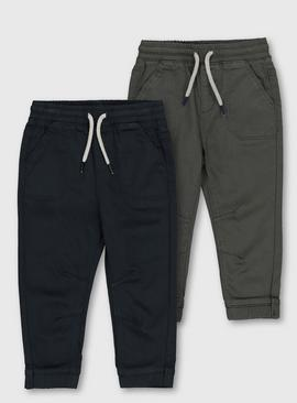 Navy & Charcoal Loopback Trousers
