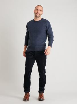 Navy Textured Knit Jumper