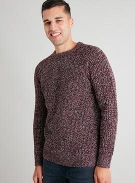 Burgundy Twist Knit Jumper