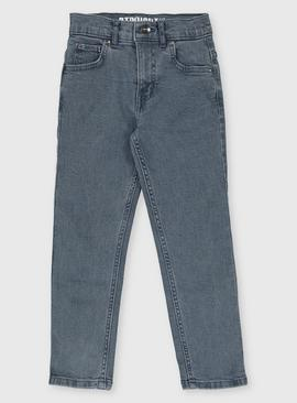 Smokey Blue Straight Fit Jeans