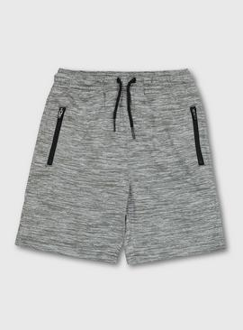 Grey Marl Active Shorts