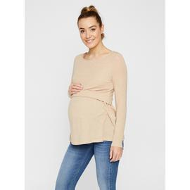 Ivory Jersey Long Sleeve Boat Neck Top