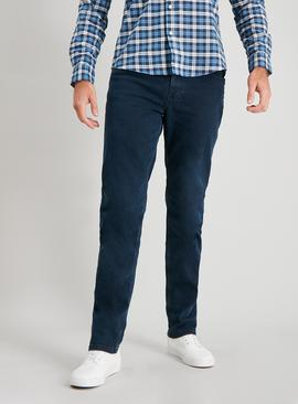 Blue Black Wash Slim Fit Denim Jeans With Stretch