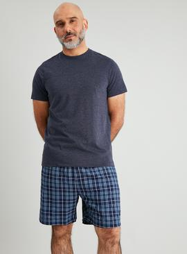 Navy & Check Shortie Pyjamas