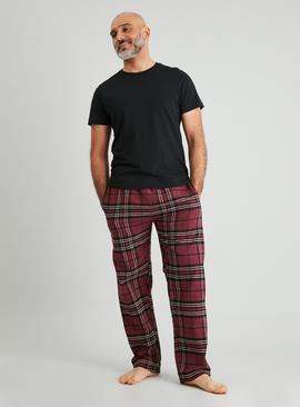 Burgundy Check Flannel Pyjama Bottoms