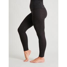 Heat Active Black Glitter Thermal Leggings