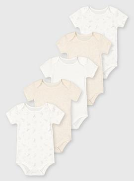 Safari Short Sleeve Bodysuits 5 Pack
