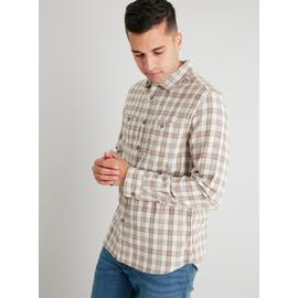 Stone Brushed Check Regular Fit Shirt