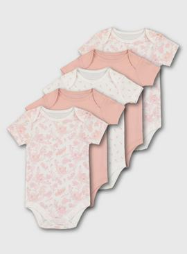 Pink Short Sleeve Bodysuit 5 Pack