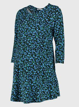 Maternity Blue Floral Print Tunic