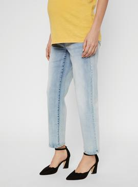 Rib Cropped Mom Jeans